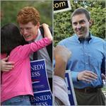 Joseph P. Kennedy III , left, beat Rachel Brown and Herb Robinson, to win the Democratic primary and will face Republican Sean Bielat, right.