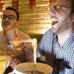 Kyle Thomas Hemingway (left) and Greg Dickinson at Seoul Kitchen.