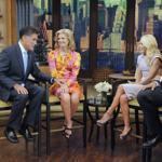 Mitt Romney and his wife, Ann, during a lighthearted exchange with Kelly Ripa and Michael Strahan on Friday.