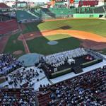 Boston College kicked off its sesquicentennial with a Mass in Fenway Park on Saturday.