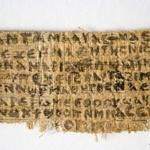 The controversial papyrus fragment contains writing in ancient Egyptian Coptic.