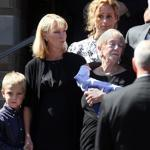 Some 600 mourners gathered in Winchester on Wednesday for the funeral of Glen Doherty, the former Navy SEAL killed in last week's assault on a US consulate. His mother, Barbara Doherty, is at center with daughter Kate Quigley and grandson Cam.