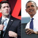 Paul Ryan spoke at the AARP convention Friday, while President Obama addressed the issue in a Virginia rally.