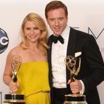 "Claire Danes won the best actress award and Damian Lewis took home the best-actor statue for their work in ""Homeland."""