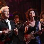 "David Byrne & St. Vincent on NBC's ""Late Night with Jimmy Fallon."""
