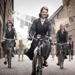 "Jessica Raine (left) and Helen George in ""Call the Midwife."""