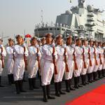 China's first aircraft carrier was put into service Tuesday. It will be used only for training and testing purposes.