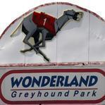 A sign at the former Wonderland Greyhound Park in Revere.