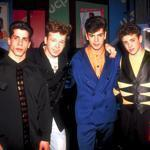 From left: Danny Wood, Donnie Wahlberg, Jordan Knight,Joey McIntyre, and Jonathan Knight at Tampa Stadium to perform at Super Bowl XXV in 1991.