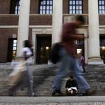 Students pass in front of Harvard's Widener Library. To Gerald and Lily Chow, education consultant Mark Zimny must have seemed like the answer to many parents' prayer.