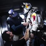 Felix Baumgartner's suit was made by the David Clark Co. of Worcester, which made the suit for the first US spacewalk.