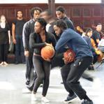 "Dancers performed with basketballs in ""Hoop Suite."""