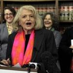 Edith Windsor, who sued the government, spoke after a US appeals court ruling on the Defense of Marriage Act.