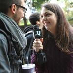 Quinn Marcus conducted one of the impromptu street interviews that just might make her a widely known comedic celebrity.