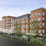 A rendering of the $75 million complex planned for the Home for Little Wanderers campus in Jamaica Plain.