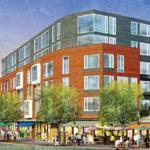 A rendering of Residential Commons at Barry's Corner looking from Western Avenue.