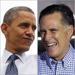 President Obama addressed a crowd Friday at George Mason University in Fairfax, Va., and Mitt Romney and Paul Ryan shared a laugh at an airport in Daytona Beach, Fla.