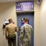 Military personnel entered Northcom's underground command center outside of Colorado Springs.