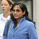 Annie Dookhan (center) is accused of faking drug results, forging signatures, and mixing samples at a state police lab.