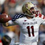Boston College quarterback Chase Rettig finished 21 of 39 for 287 yards on Saturday.