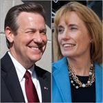 The New Hampshire  governor's race between Ovide Lamontagne and Maggie Hassan is too close to call.