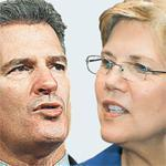 Senator Scott Brown and Elizabeth Warren.