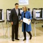 Mitt Romney and Ann Romney cast their ballots in Belmont on Election Day in 2012.