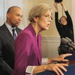 Elizabeth Warren said she needed to be more discreet on issues now that she is preparing to become a US senator.