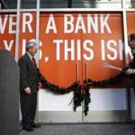 San Francisco Mayor Edwin Lee (left) and ING Direct's CEO of savings, Arkadi Kuhlmann, opened an ING banking cafe last year.