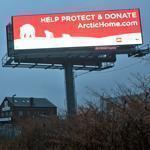 An electronic billboard off Interstate 93 in Medford was part of a state pilot program and posed no safety hazard.