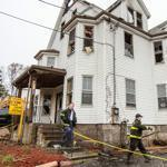 Authorities determined the fire at 488 Quincy Ave. had been started deliberately in the rear stairwell at about 1:30 a.m.