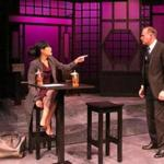 "Celeste Oliva and Barlow Adamson in Lyric Stage Company's production of playwright David Henry Hwang's ""Chinglish.''"