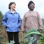 Susan Shay (left) leased land she owns in Groton to Seona Ngufor for farming. Ngufor has just completed her first growing season.