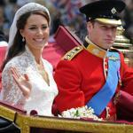Britain's Prince William and his bride Kate, on their wedding day in 2011.