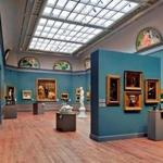 "View of the 19th-century American paintings and sculpture galleries, ""a stately extravagance"" of quality pictures, writes art critic Sebastian Smee."