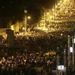 Egyptian protesters gathered outside the presidential palace in Cairo, Egypt, on Friday.
