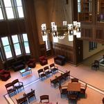 BC's new hall is the school's most expensive educational building. The lounge is pictured.