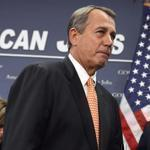 House Speaker John Boehner talked about the ongoing fiscal cliff negotiations at the US Capitol on Wednesday.