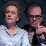 "Mary Beth Fisher and Jefferson Mays as Elizabeth Bishop and Robert Lowell in ""Dear Elizabeth"" at Yale Repertory Theatre."