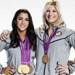 Aly Raisman and Kayla Harrison.