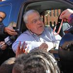 Mayor Thomas M. Menino greeted children at a youth center Monday.