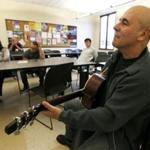 Musician Julio Fernandez during a music session at Montclair State University.