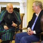 Afghanistan President Hamid Karzai met with Senate Minority Leader Mitch McConnell in Washington Jan. 9, 2013.