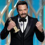 "Ben Affleck took the best director trophy at last night's Golden Globe Awards for ""Argo."""