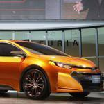 The Toyota Corolla Furia Concept car was introduced at the auto show in Detroit Monday. Toyota says it wants the car to look like it's in motion even when it's parked.