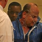 Mark Sargent (right) and Jeanmarie Louis in court Thursday.