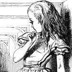 "An early illustration for Lewis Carroll's ""Alice in Winderland."""