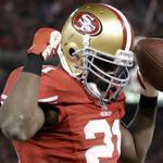 Though he wasn't drafted until the third round, Frank Gore of the 49ers has racked up six 1,000-yard seasons.
