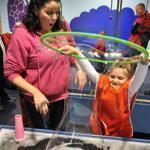 Amanda DiBattista of Peabody saved by using the EBT discounted admission program offered by the Boston Children's Museum to bring her daughter, Amelia, 6, on a visit.