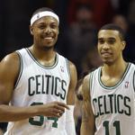 Paul Pierce, left, Courtney Lee, and the Celtics have yet to lose since Rajon Rondo was ruled out for the season.